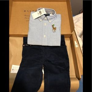Size 2t Polo corduroys and button down for boy